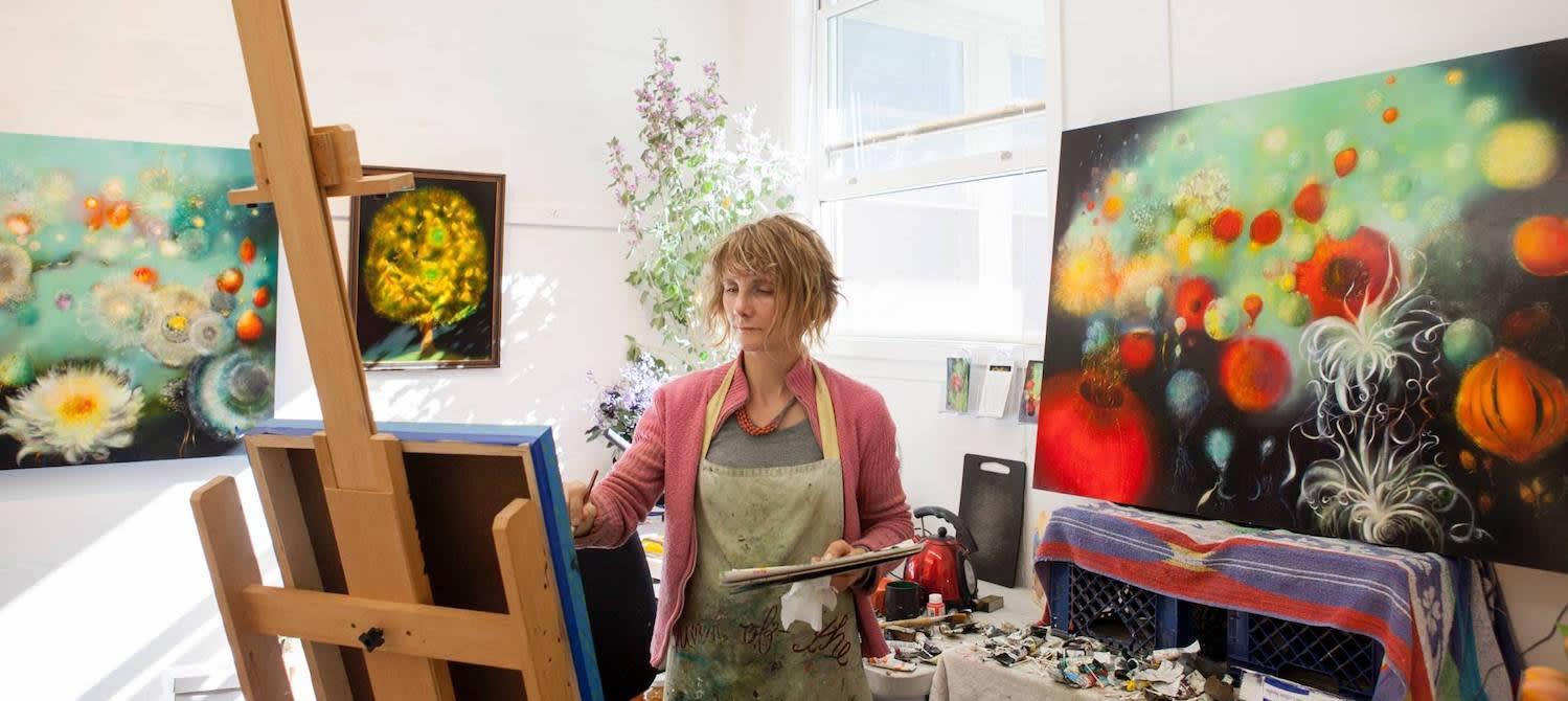 Linda Larson: In her Studio