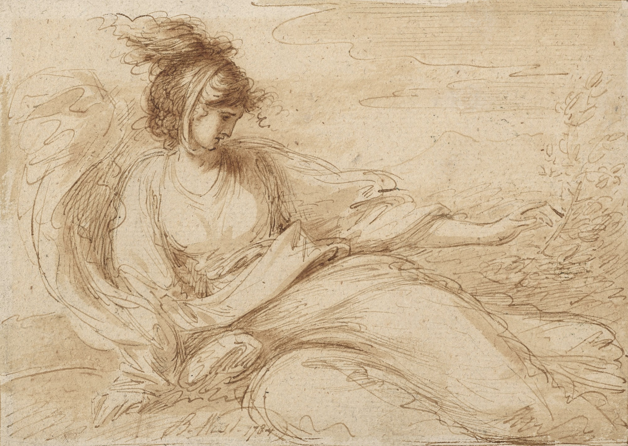 BENJAMIN WEST P R A Touch A drawing from the series The Five Senses