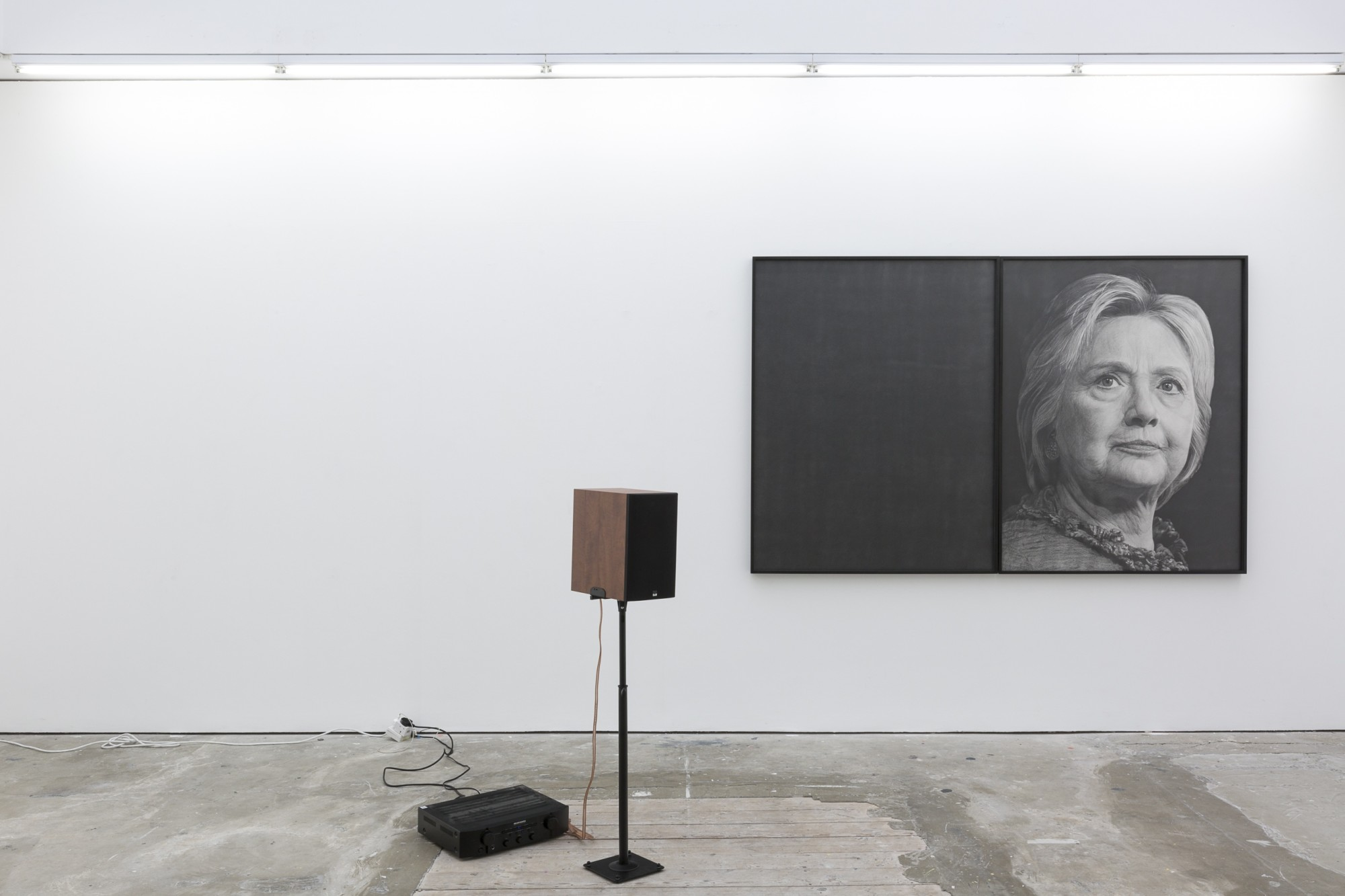 Karl Haendel, Hillary, 2016  Courtesy of the artist and Susanne Vielmetter Los Angeles Projects