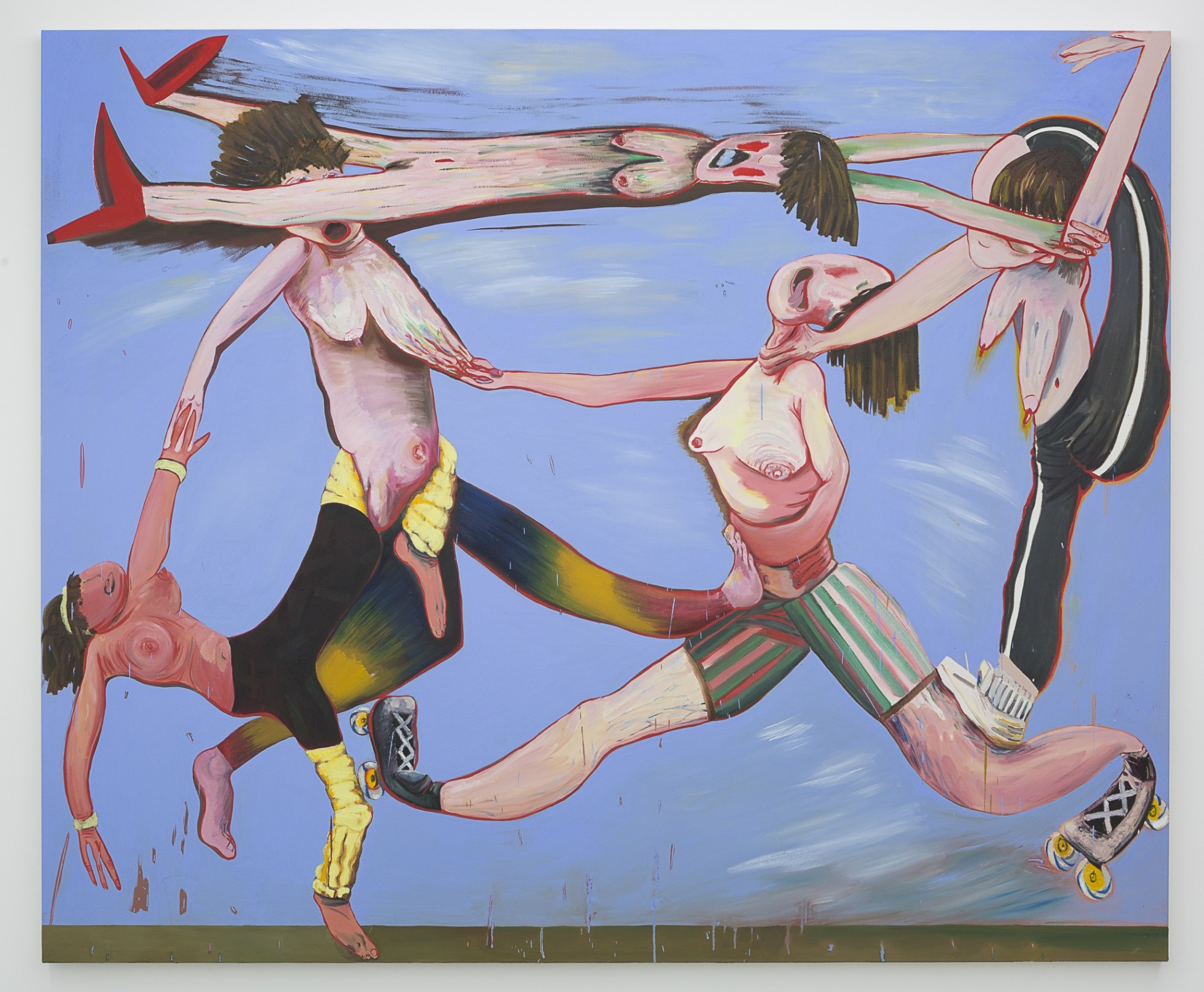 Noilly, Nibbles and Neck Braces, 2018  Oil on canvas  190 x 230 cm  74 3/4 x 90 1/2 in.