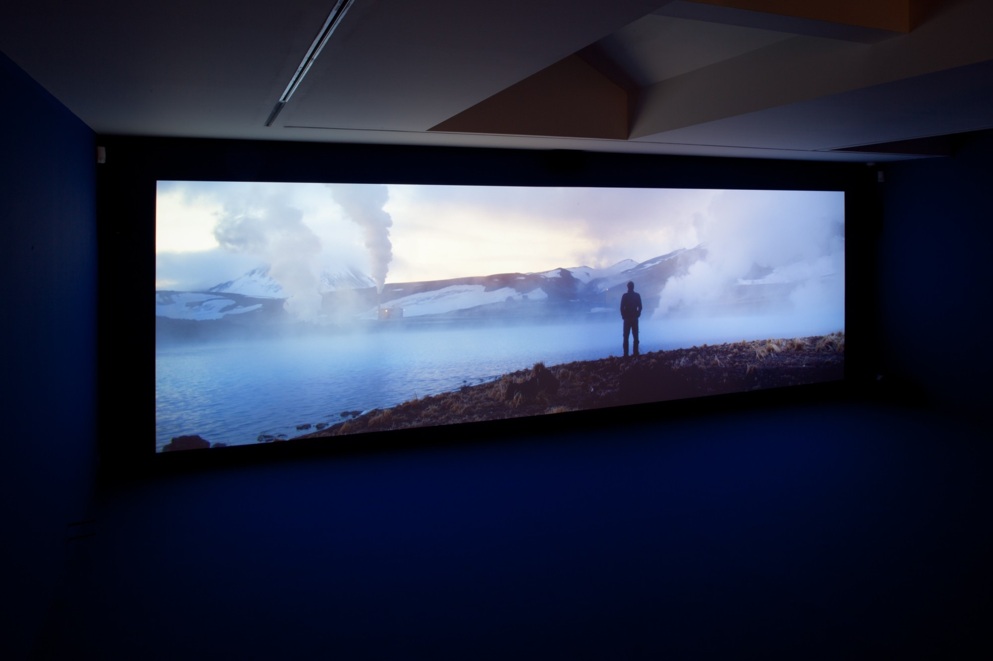 """Playtime. Galerie Ron Mandos, Amsterdam, 2014  Double projection, edge blended, single screen ultra high definition with 5.1 surround sound, 66'57"""""""