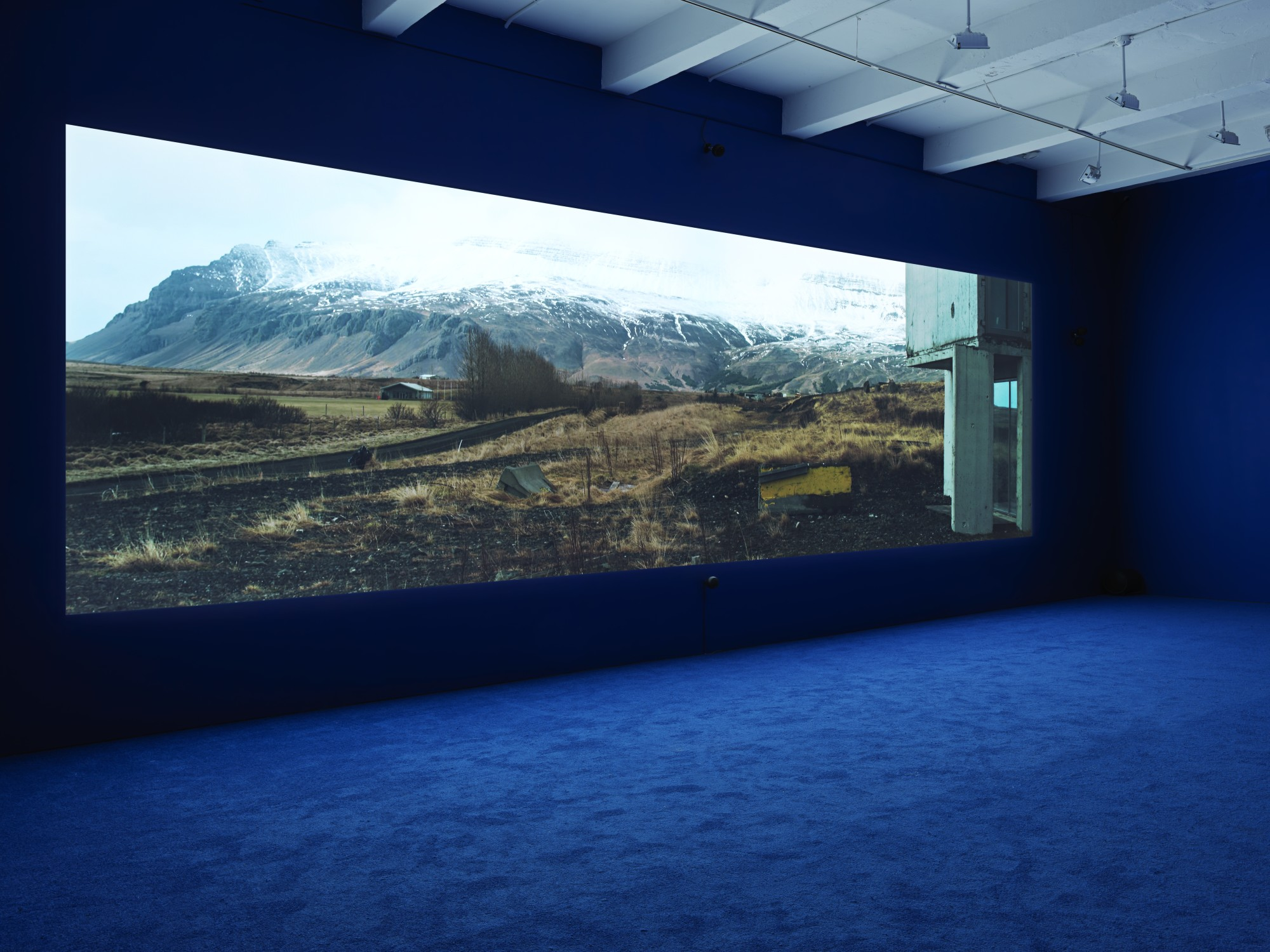 """Playtime. Metro Pictures, New York, 2013  Double projection, edge blended, single screen ultra high definition with 5.1 surround sound, 66'57"""""""