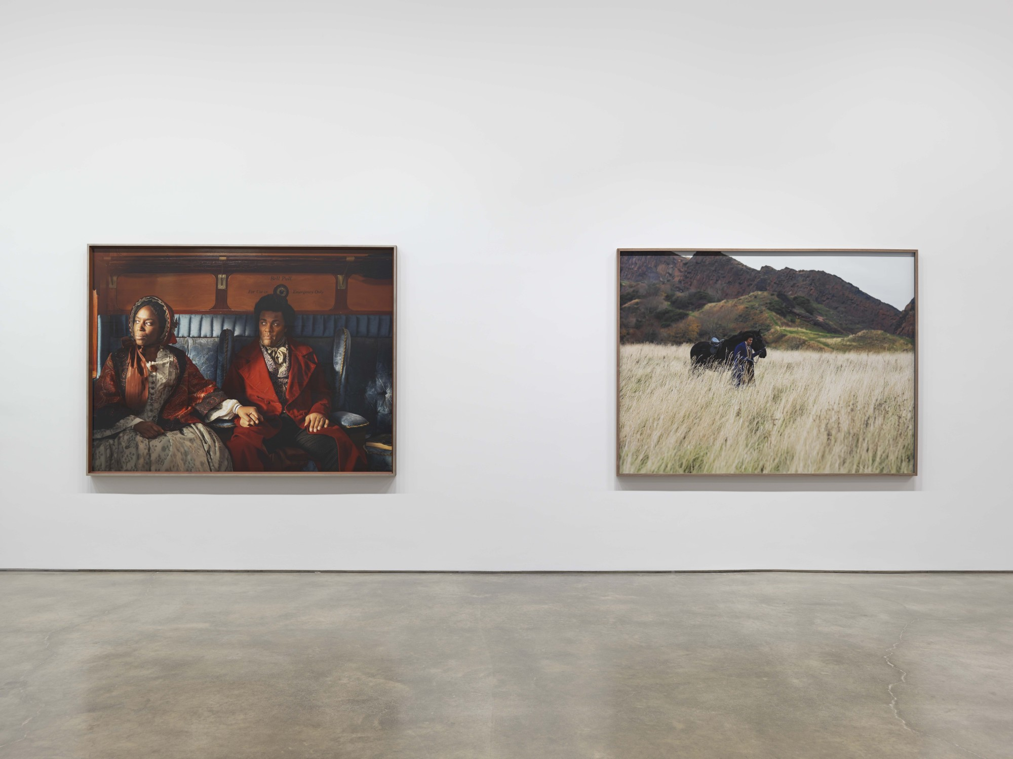 Photographic artworks from Lessons of the Hour series at Metro Pictures, New York, 2019