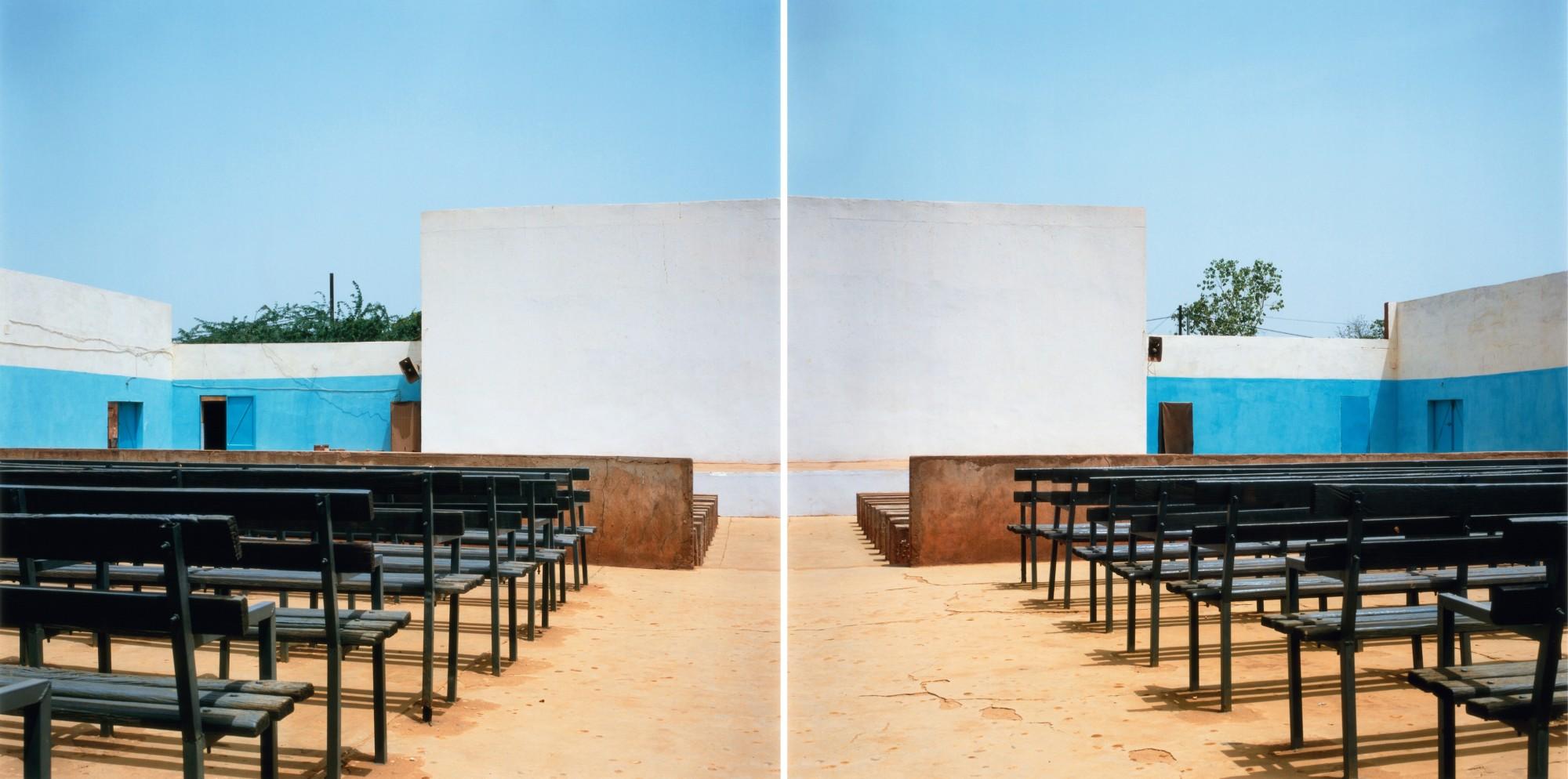 Fantôme Créole Series (Cinema Cinema), 2005  Diptych of Lambda prints on gloss paper  119.5 x 119.5 cm, 47 1/8 x 47 1/8 in (each)