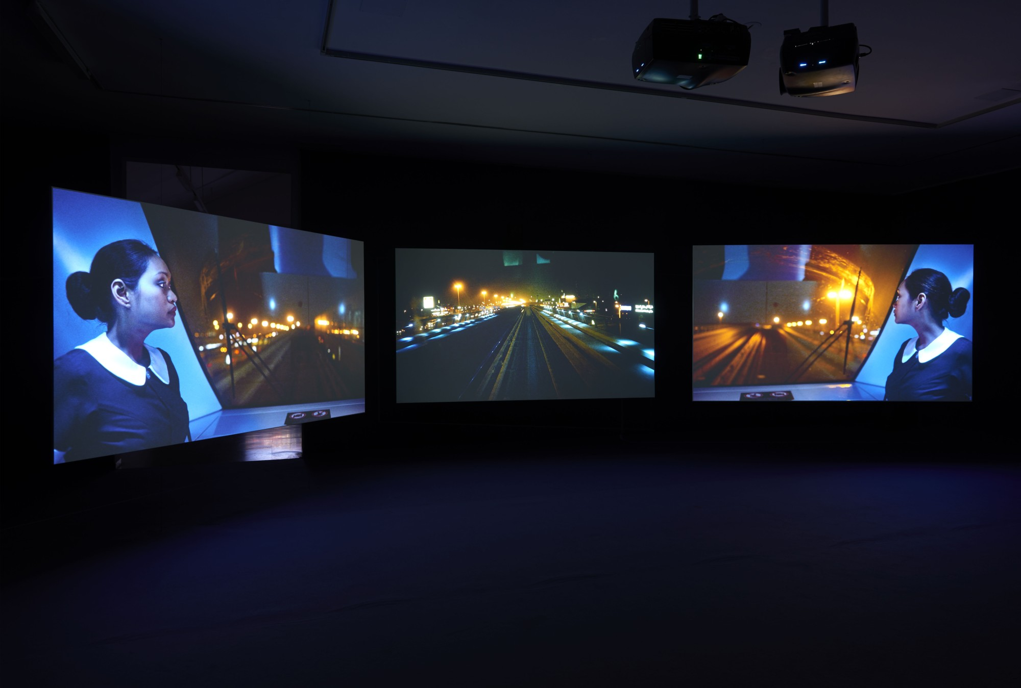 Playtime. Galería Helga de Alvear, Madrid, 2015  Three screen high definition video installation with 5.1 surround sound  64'12''