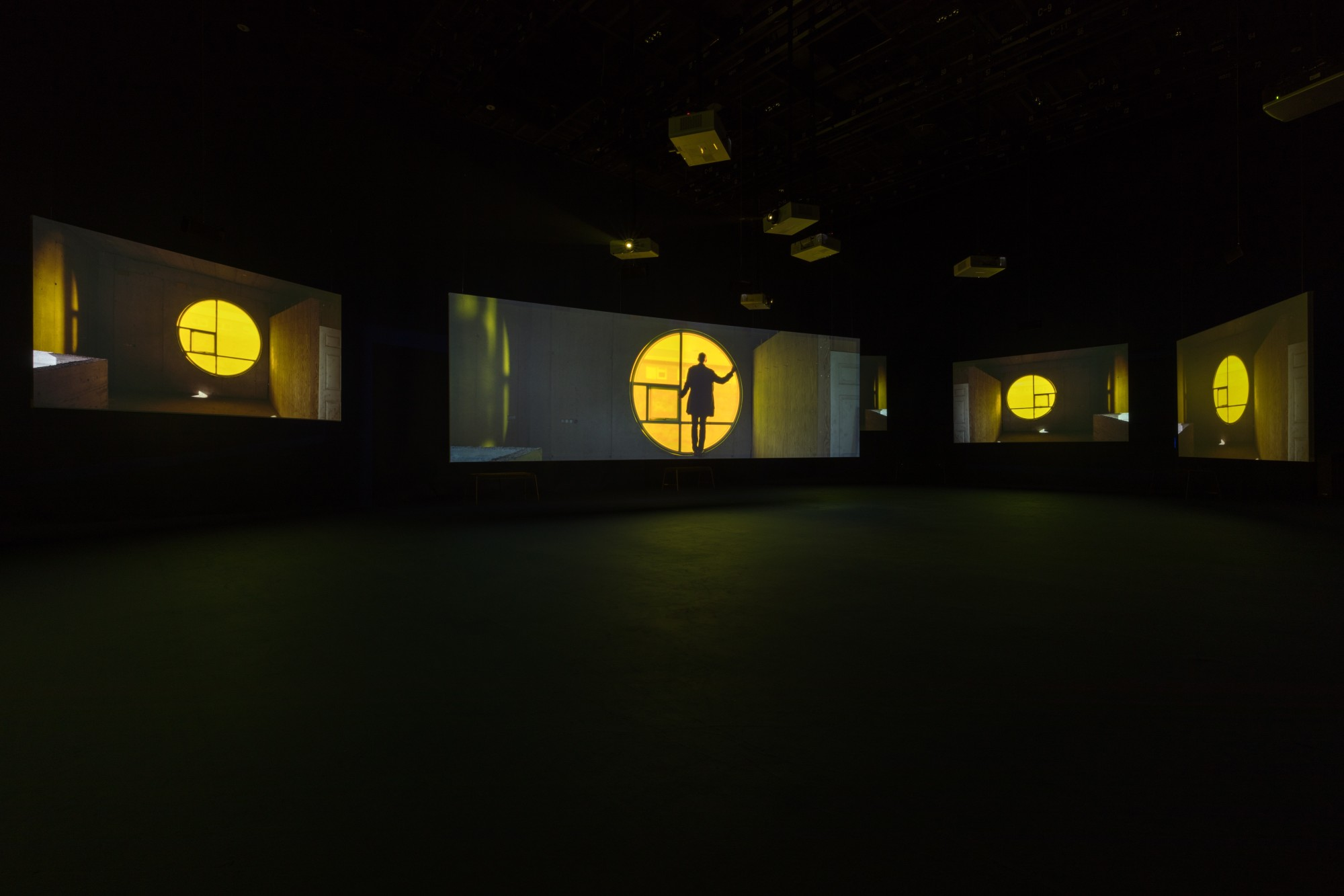 PLAYTIME. PLATFORM-L CONTEMPORARY ART CENTER, SEOUL, 2017  Seven screen ultra high definition video installation with 7.1 surround sound, 66'57""