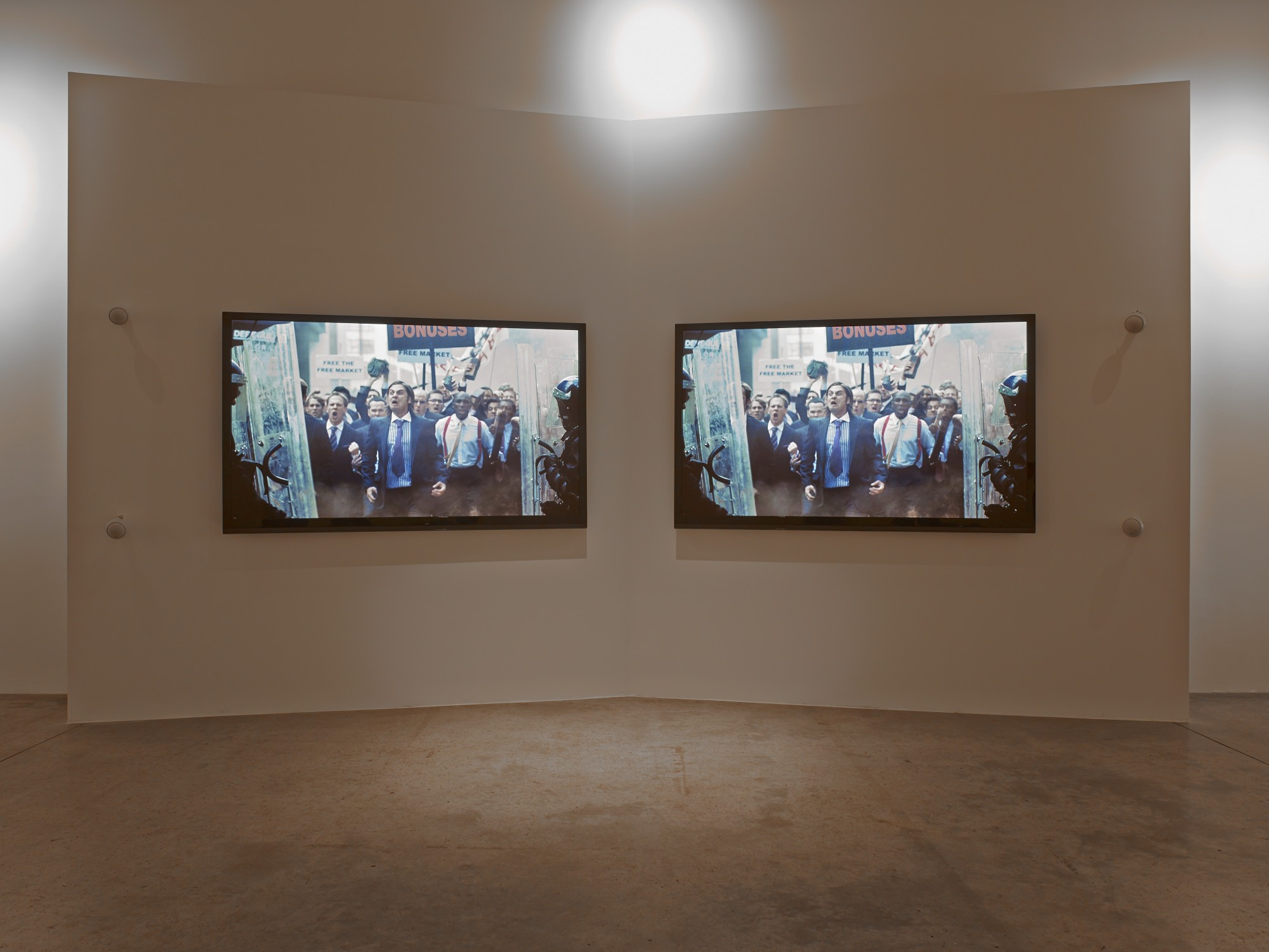 Isaac Julien: Playtime. Victoria Miro, London, 2014  31'16'', two-screen high definition video installation, colour, stereo