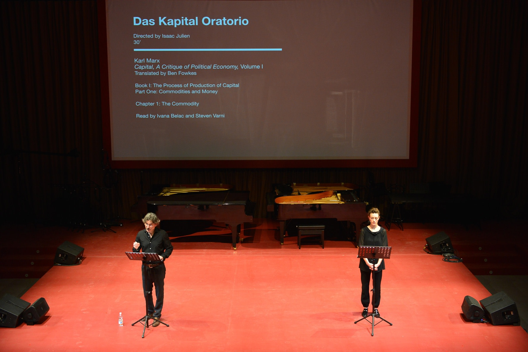 DAS KAPITAL ORATORIO, Venice Biennale, 2015  Seven-month live reading of Karl Marx's Das Kapital (1867-1894)