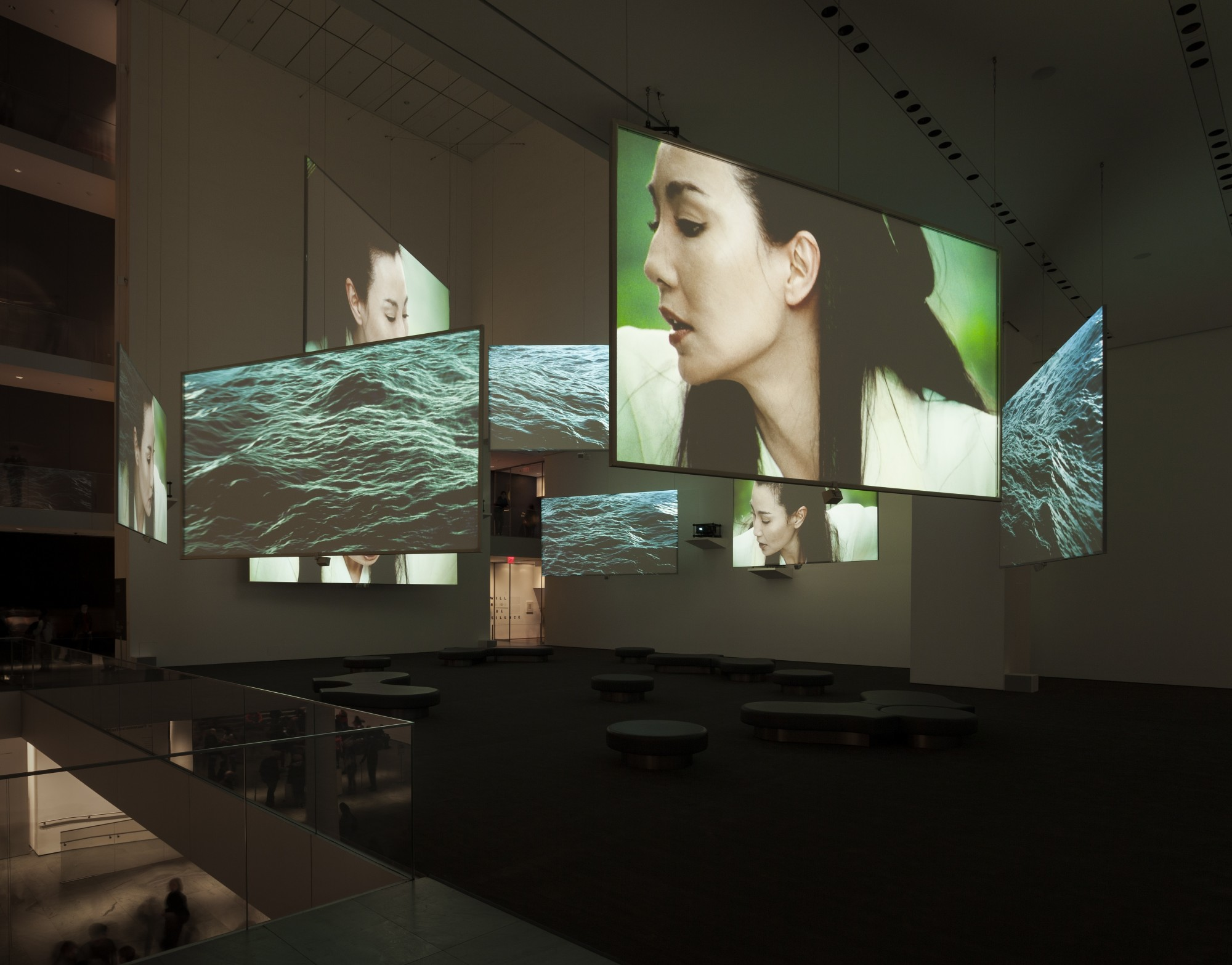 Isaac Julien: Ten Thousand Waves. The Museum of Modern Art (MoMA), New York, 2013  49'41'', nine-screen installation, 35mm film transferred to digital, colour, 9.2 sound