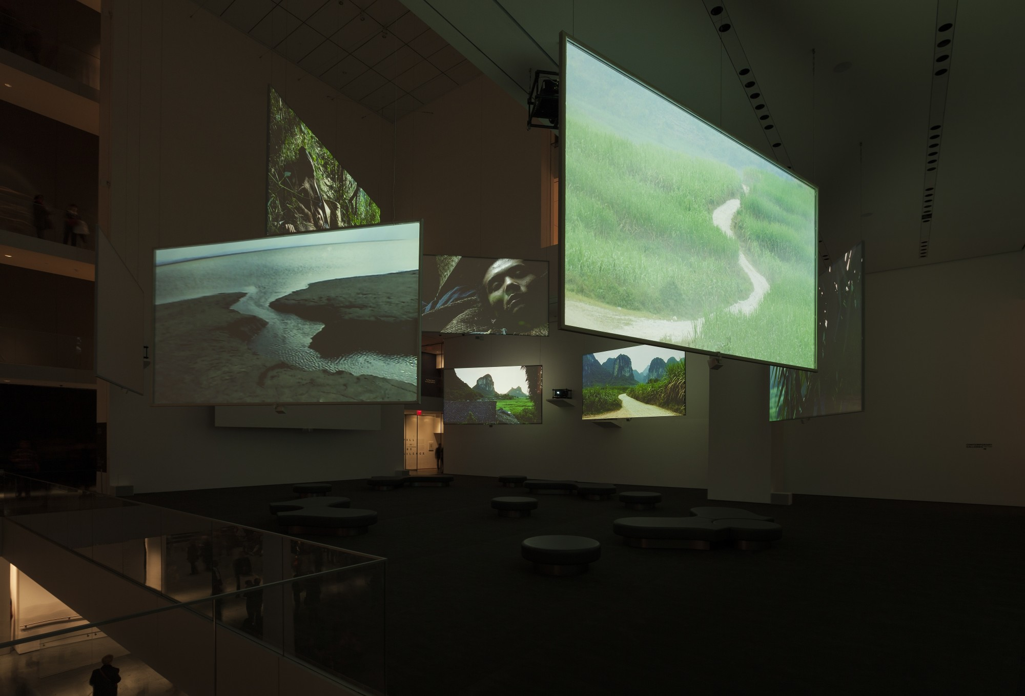 Isaac Julien: Ten Thousand Waves. The Museum of Modern Art (MoMA), New York, 2013-14  49'41'', nine-screen installation, 35mm film transferred to digital, colour, 9.2 sound
