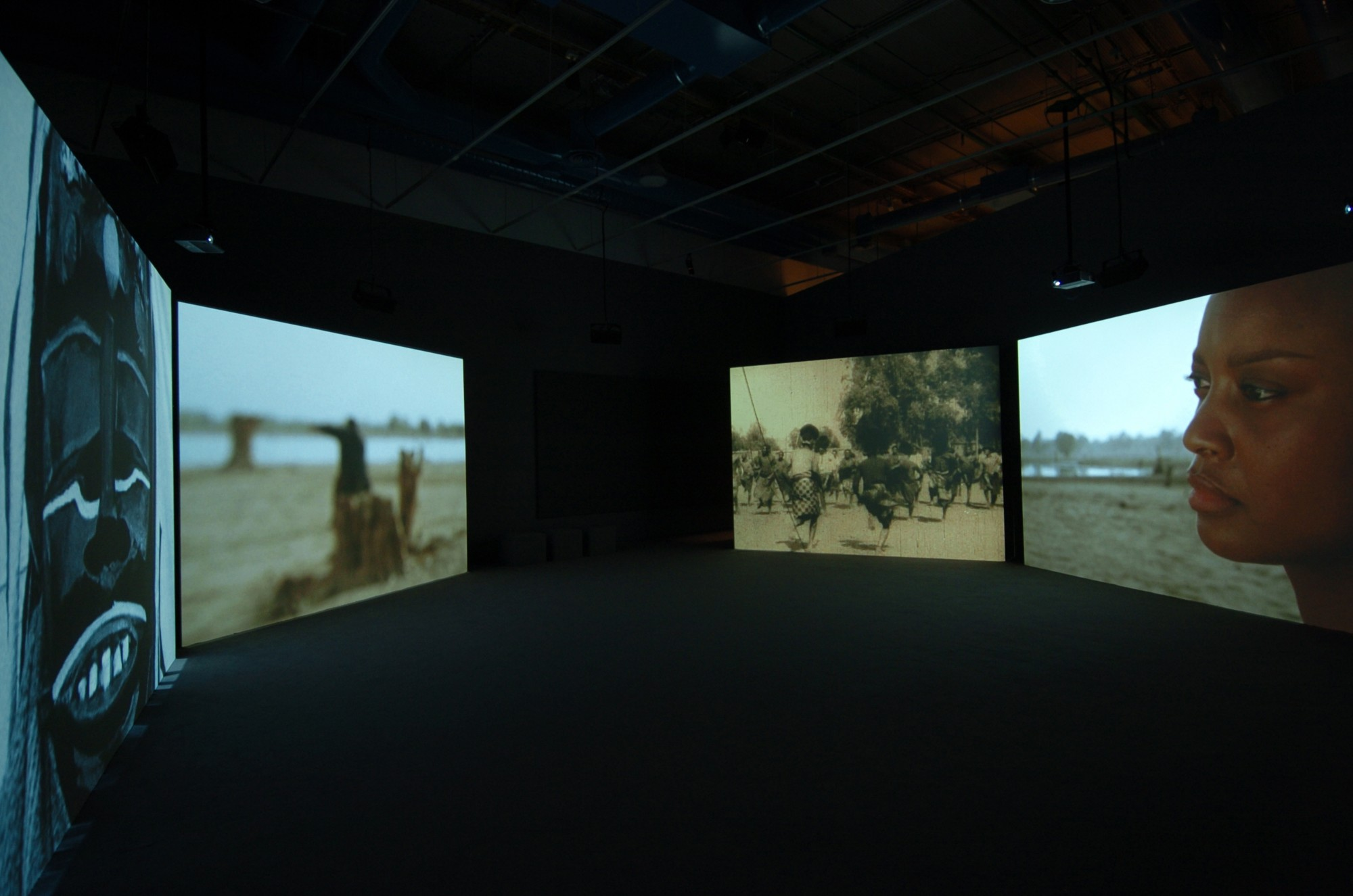 Isaac Julien. Centre Pompidou, Paris, 2005  23', four-screen projection, 16mm colour film transferred to DVD, sound