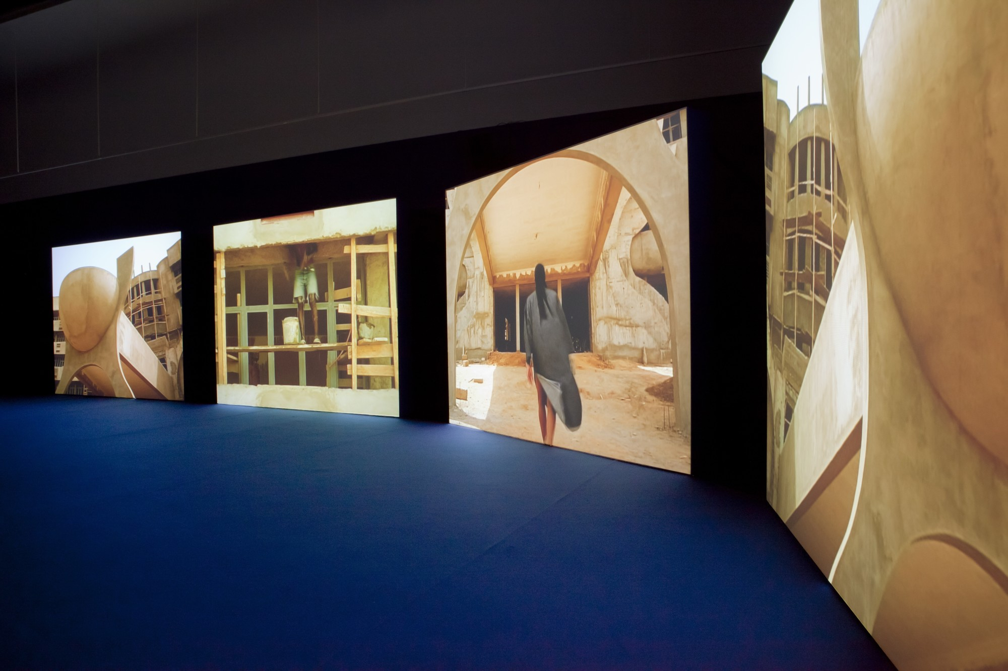 Isaac Julien. Kunsternes Hus, Oslo, 2012  23', four-screen projection, 16mm colour film transferred to DVD, sound
