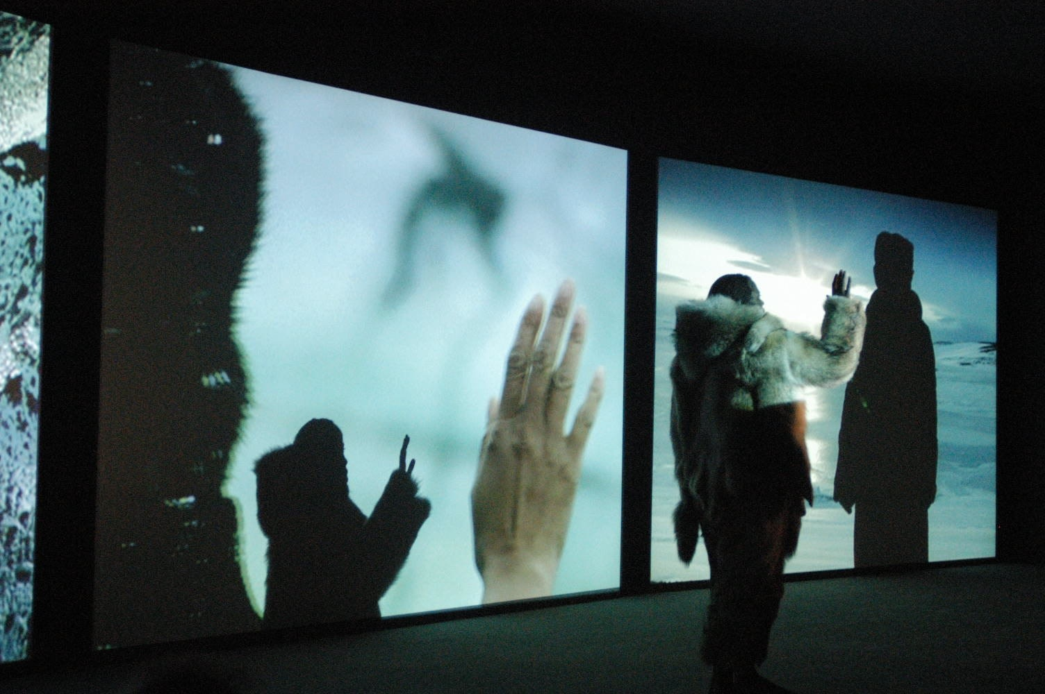 Cast No Shadow. Isaac Julien & Russell Maliphant. Film projection and performance.  A PERFORMA Commission with Sadler's Wells for PERFORMA07 at the BAM 25th Next Wave Festival. New York and London, 2007