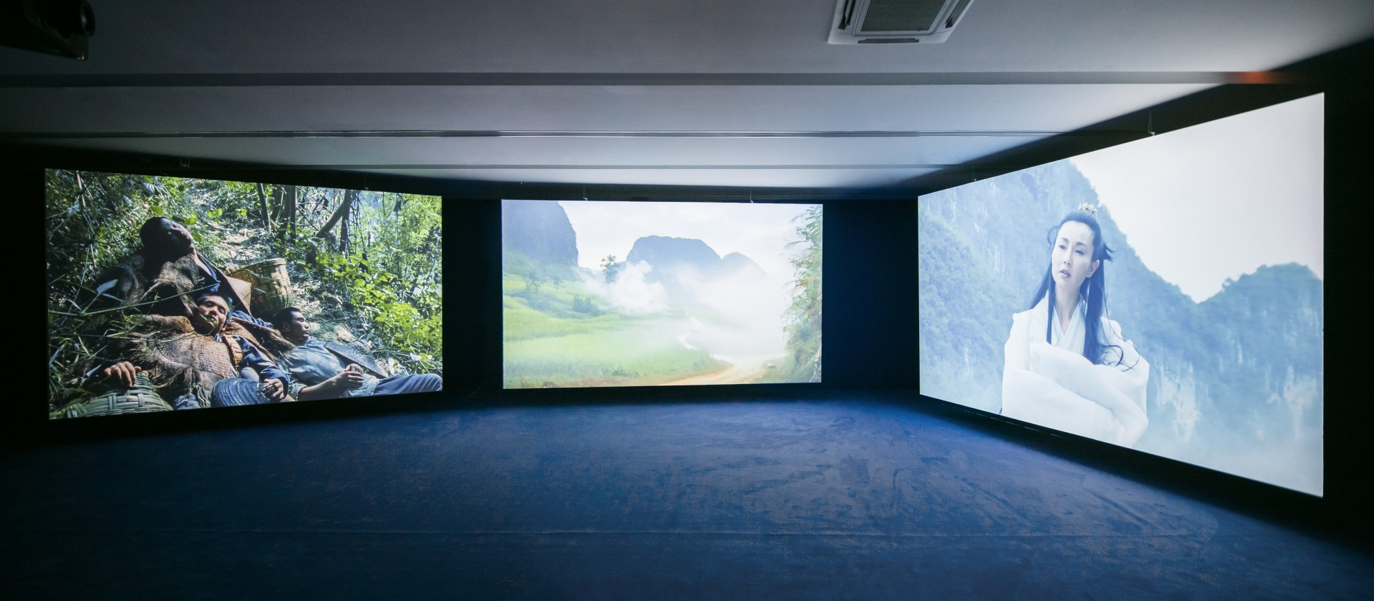 Irreversible Intrusion. K11 Art Foundation, Shanghai, 2016  49'41'', three-screen installation, 35mm film transferred to digital, colour, 9.2 sound