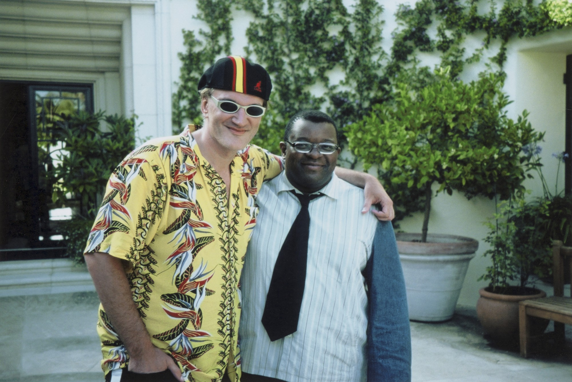 Isaac Julien and Quentin Tarantino on BaadAsssss Cinema film set
