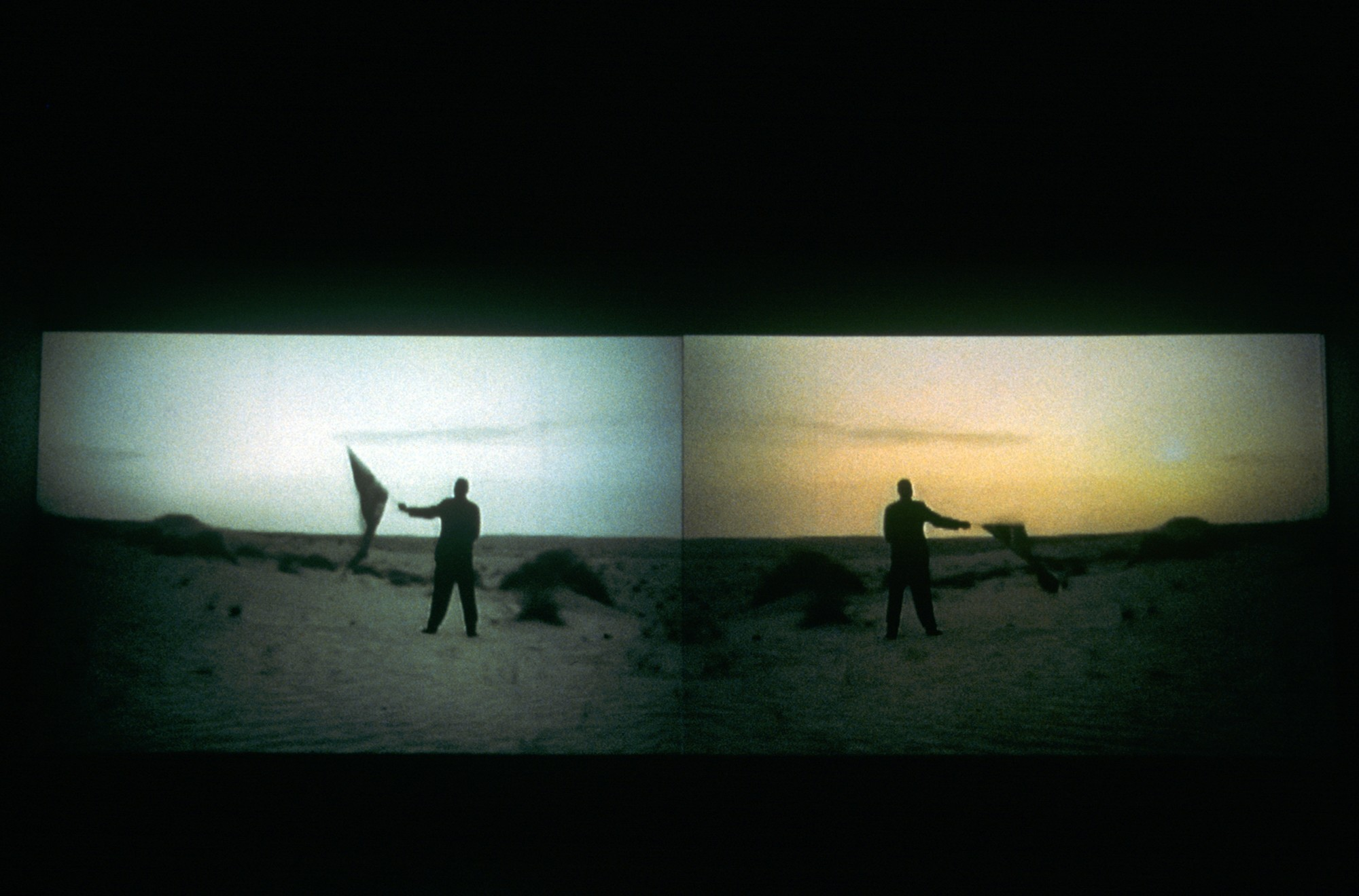 Oxford Brookes University Museum, 1999  4'53'', two-screen installation, 35mm film transferred to digital, sound