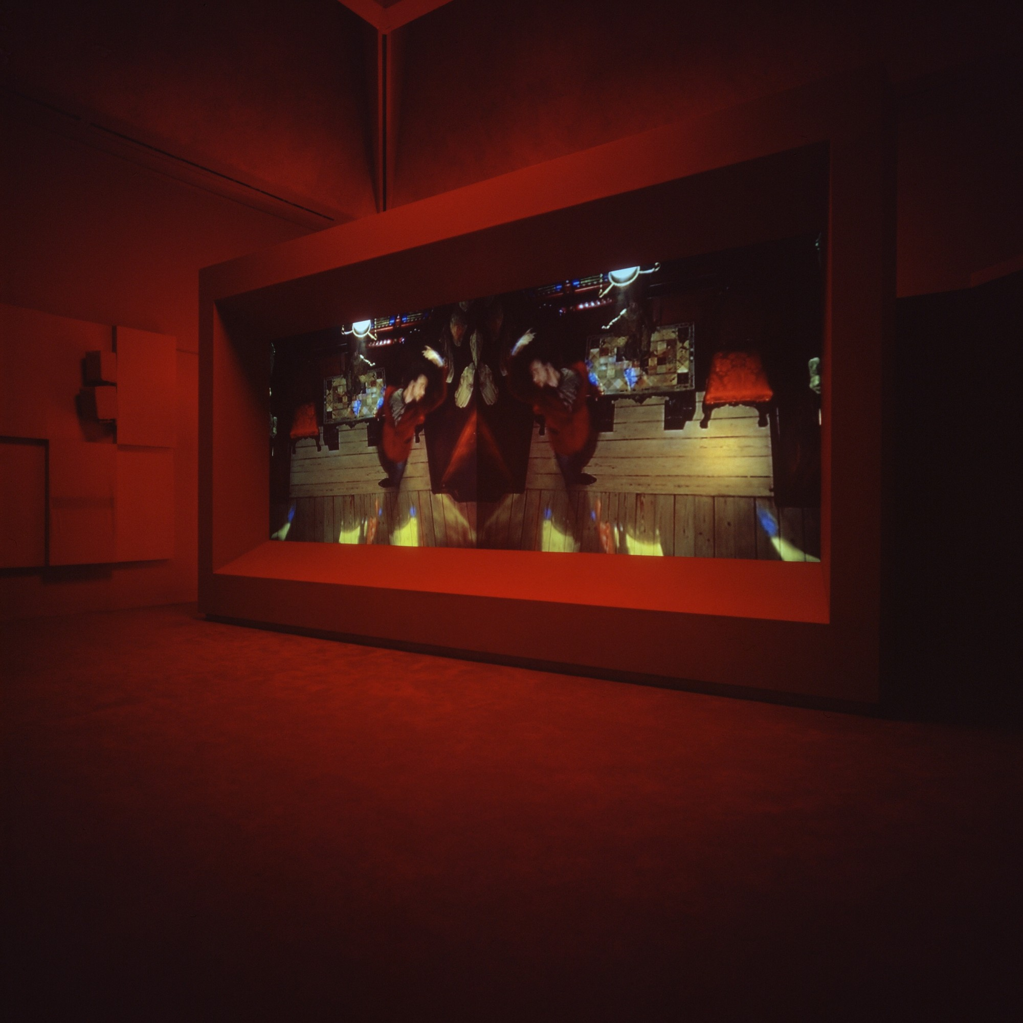 Turner Prize 2001. Tate Britain, London  7', double-screen projection, 16mm film transferred to digital, colour, sound