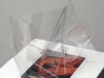 Untitled #7 (transparent film and magazine cut), 2007-2008