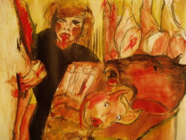 Butcher's Wife after Carol Rama, 2004