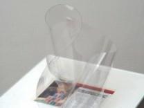 Untitled #8 (transparent film and magazine cut), 2007-2008