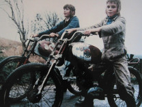 Young boys on motorbikes, Noord Holland, 1974 ca.