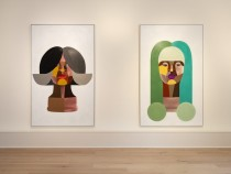 See How Rising-Star Painter Derrick Adams Explores Black Feminine Identity in His First Exhibition at Luxembourg & Dayan
