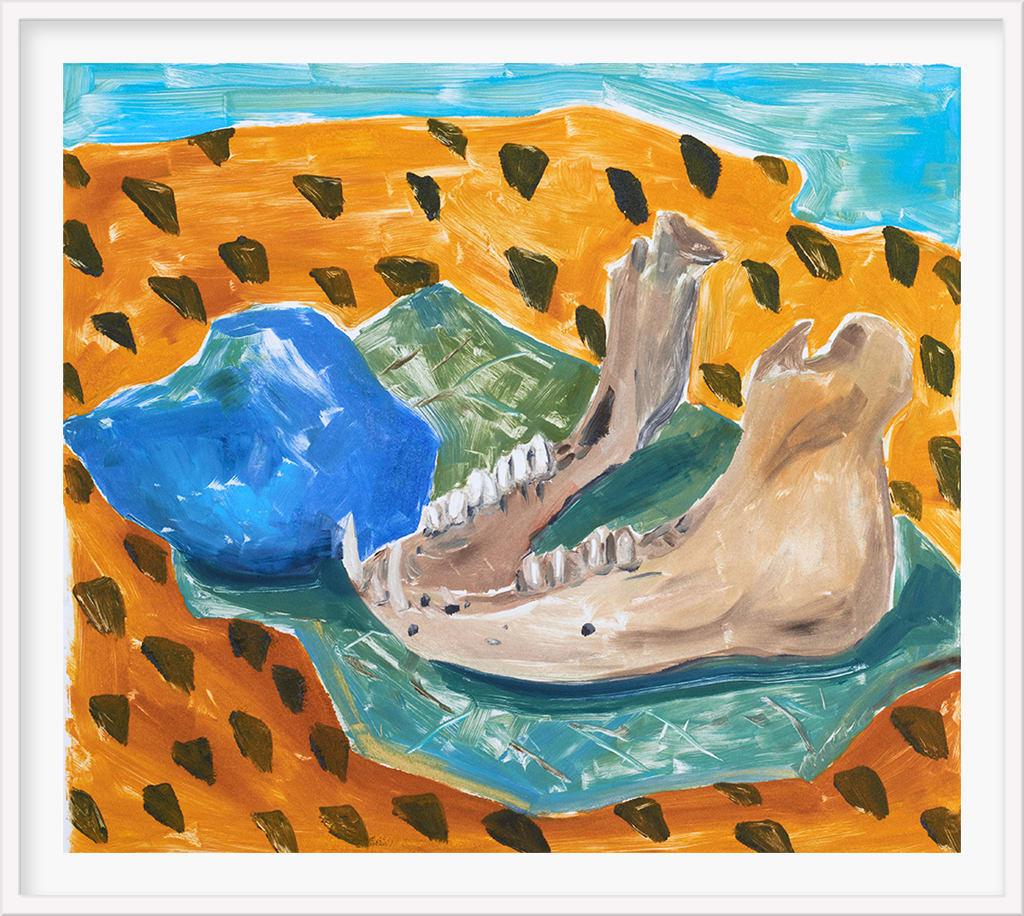 Anna Valdez, Jawbone with Blue Stone, 2019