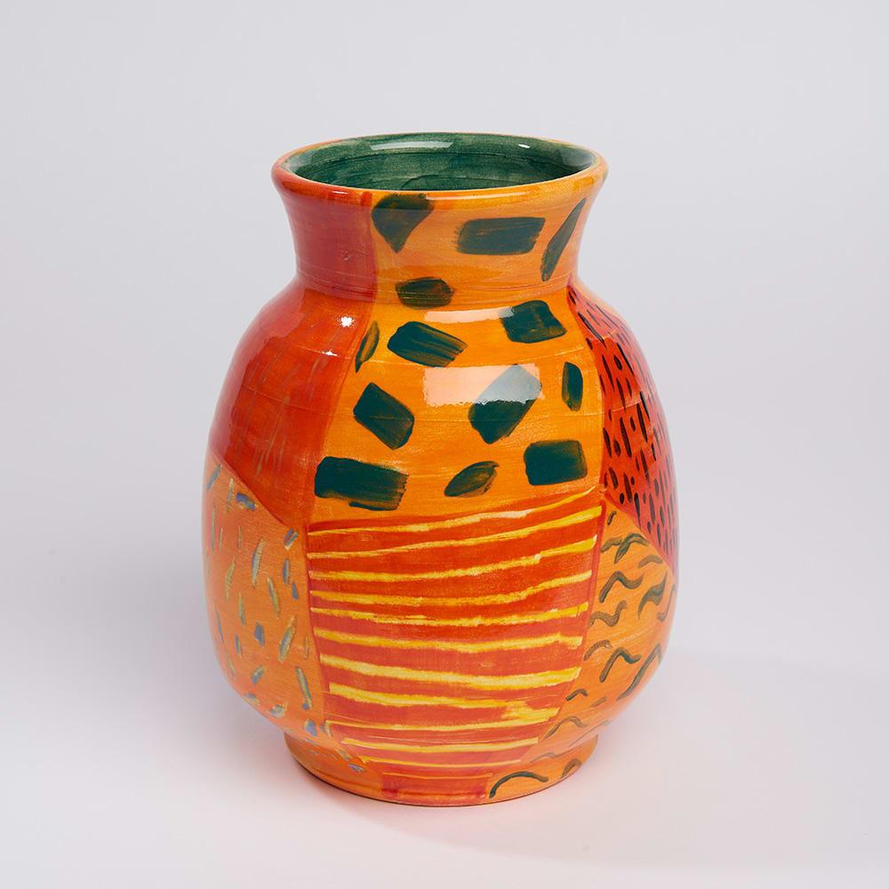 Anna Valdez, Patterns on Orange, 2019