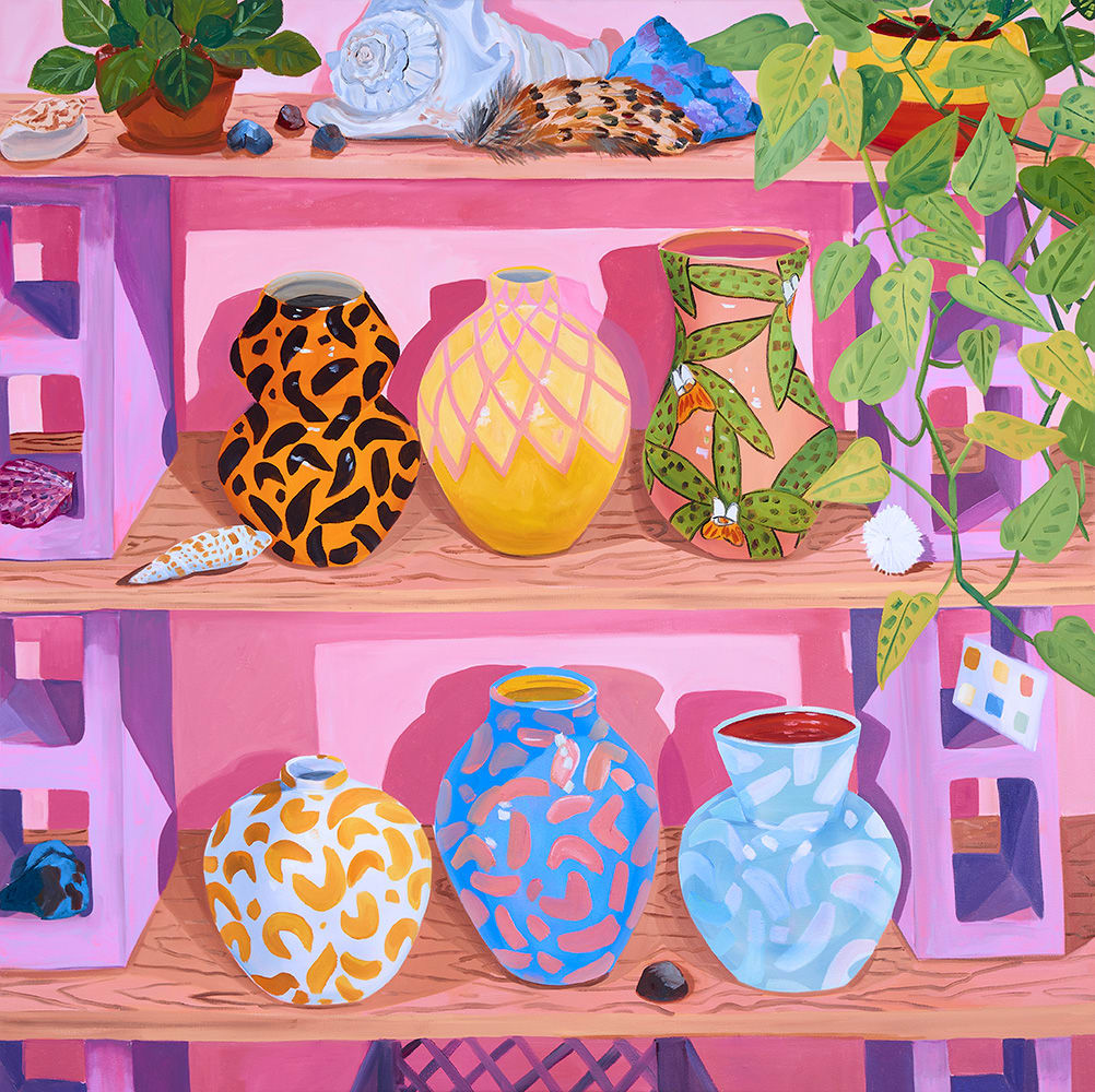 Anna Valdez, Vessels on Studio Shelves, 2019