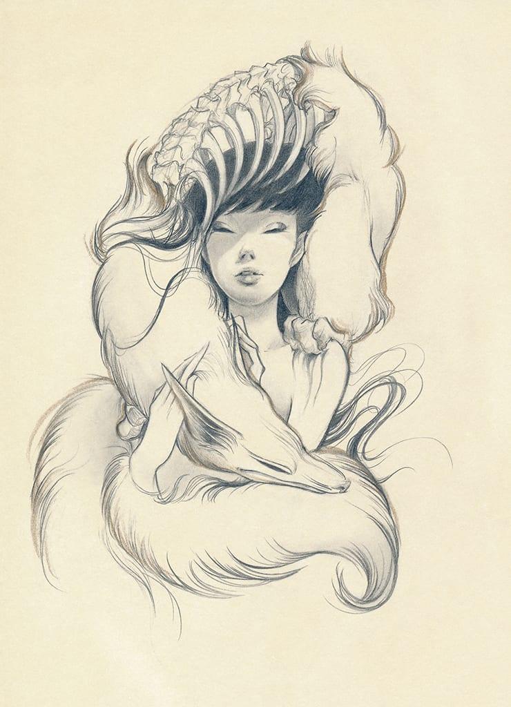 Ozabu, Kitsune Sketch 1, 2019