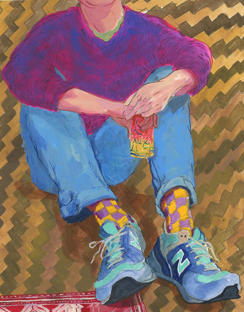 Rebecca Ness, Drinking La Croix on the Floor, 2019