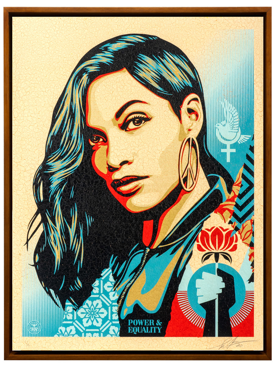 Shepard Fairey, Power and Equality: Flower, 2020