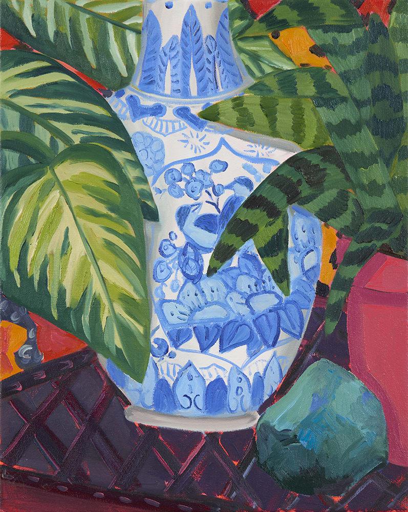 Anna Valdez, Blue Bird Vase Study, 2019