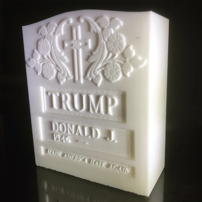 Brian A. Whiteley, Trump Legacy Stone (white), 2020