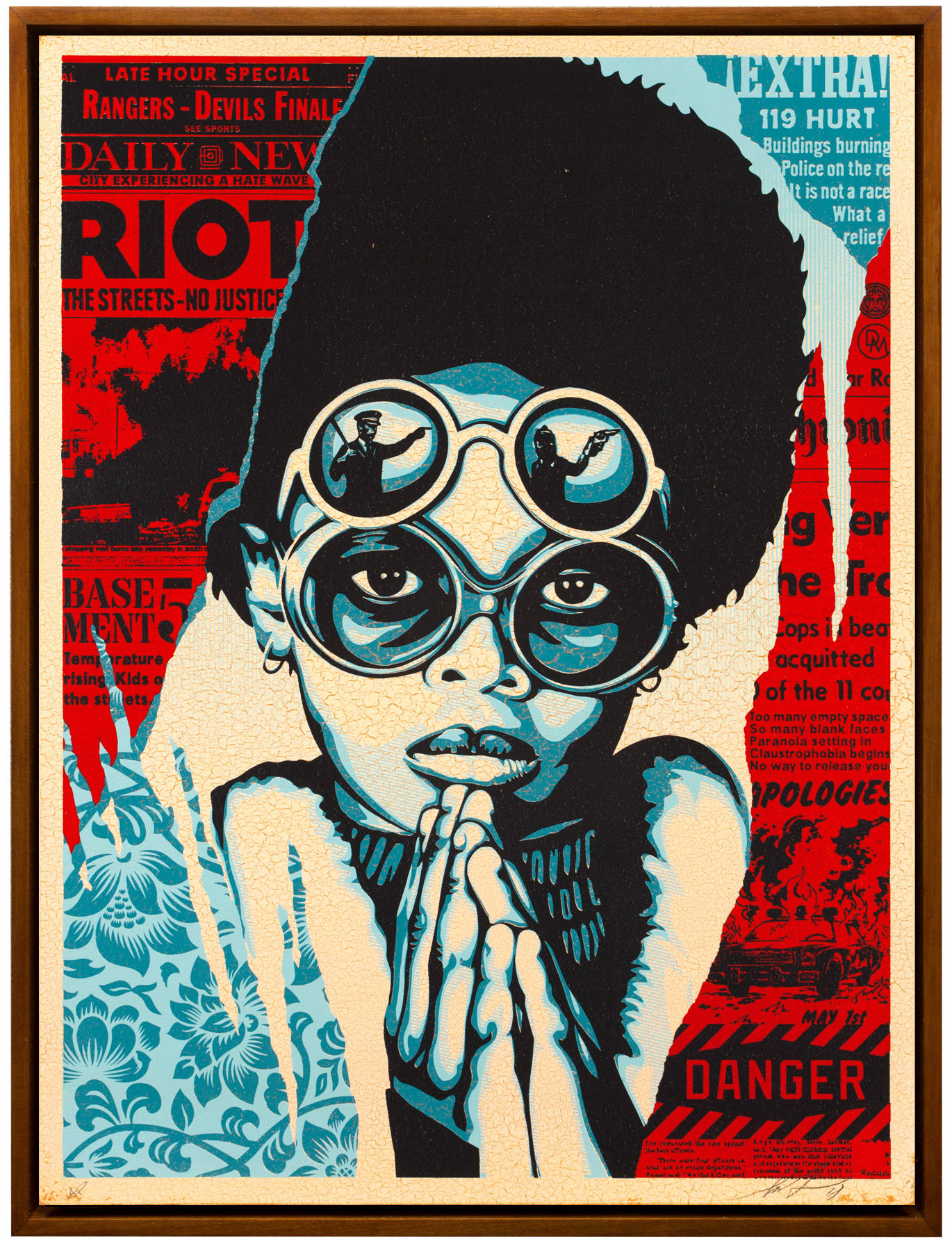 Shepard Fairey, Late Hour Riot, 2018