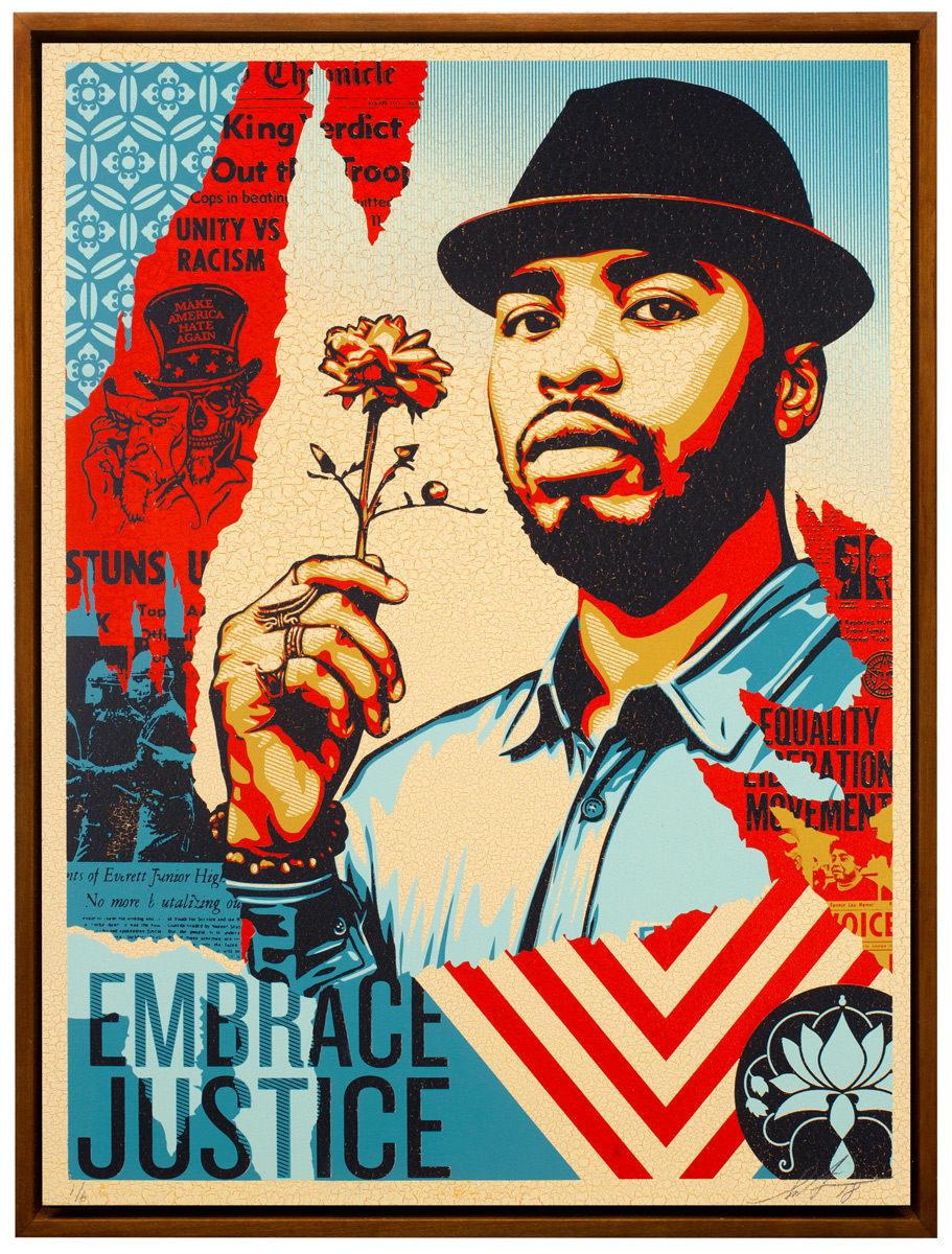Shepard Fairey, Embrace Justice, 2018