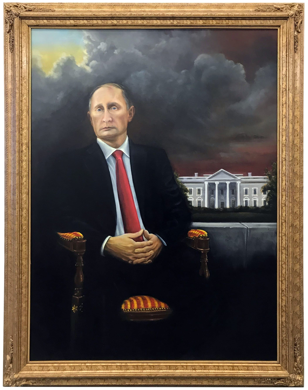 Brian A. Whiteley, The Vladimir Putin Presidential Portrait (White House in Background), 2018