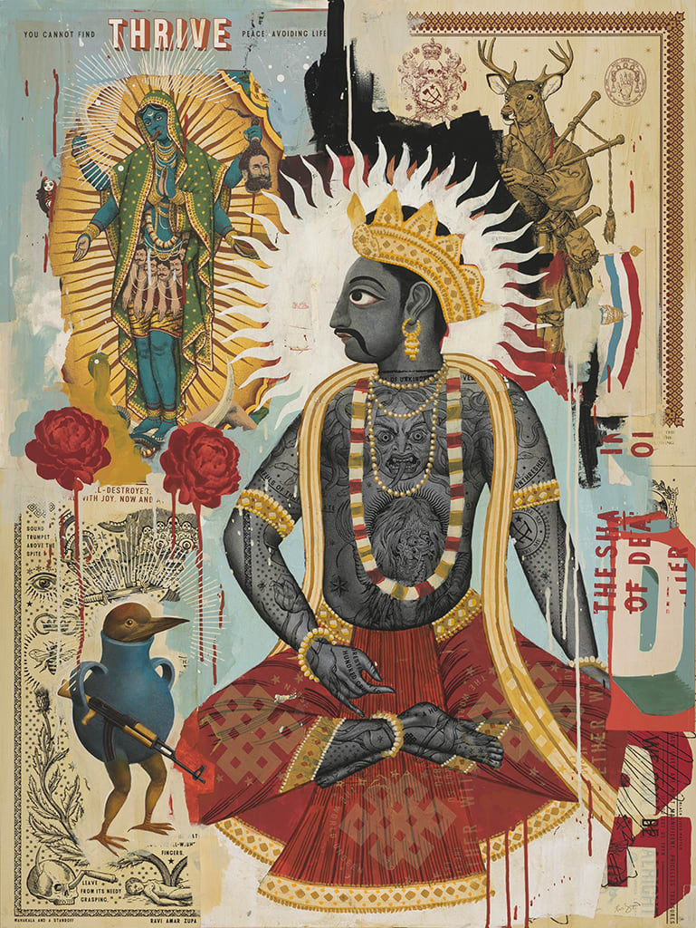 Ravi Zupa, Thinking About His Wife, 2019