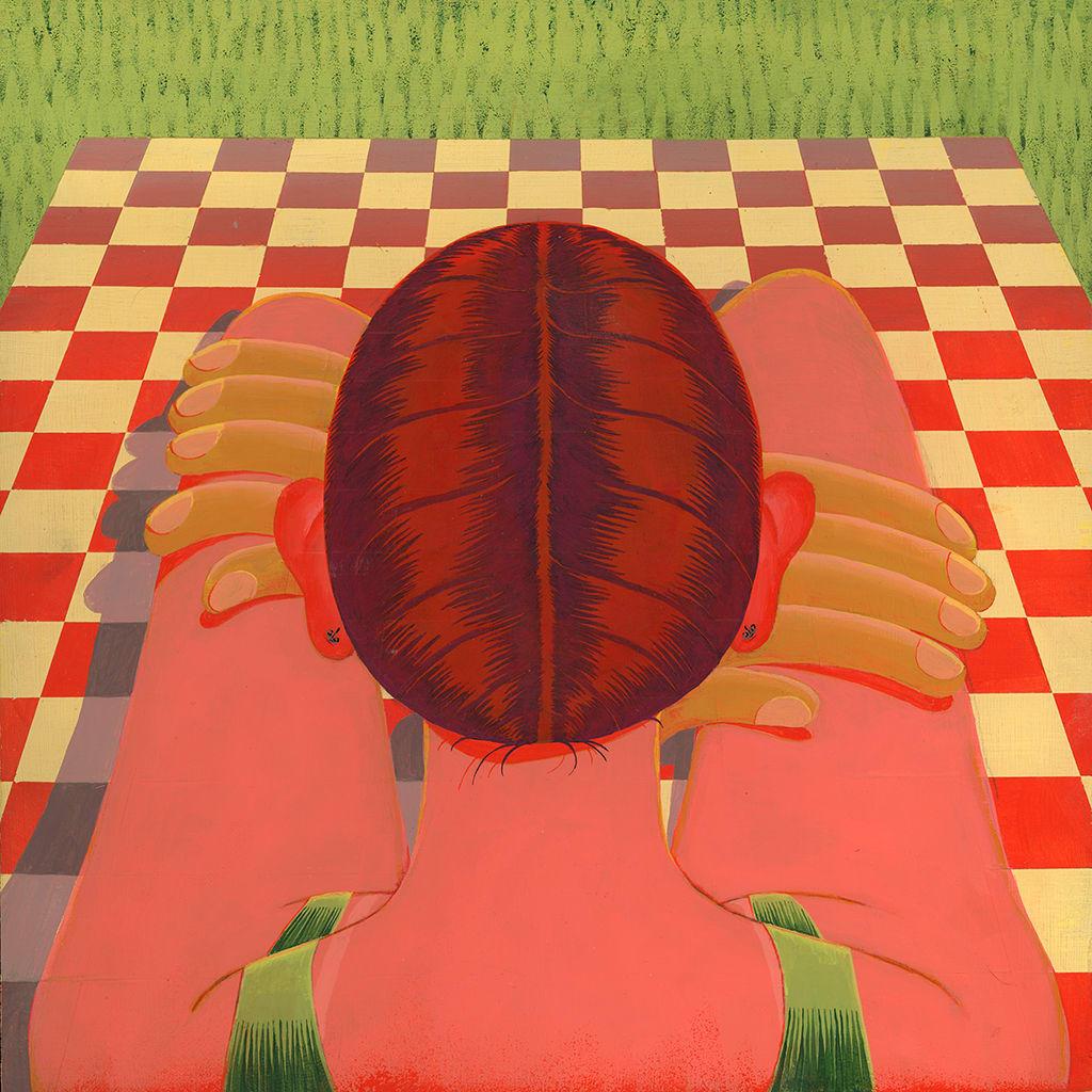 Celia Jacobs, Portrait on a Blanket, 2019