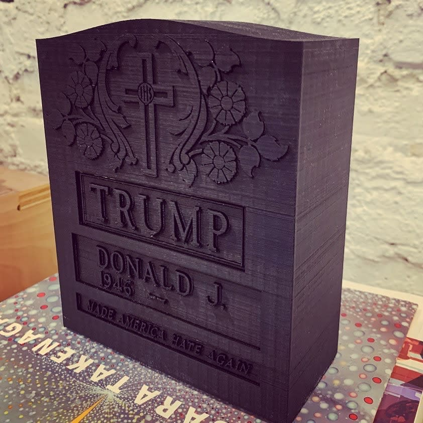 Brian A. Whiteley, Trump Legacy Stone (black), 2020