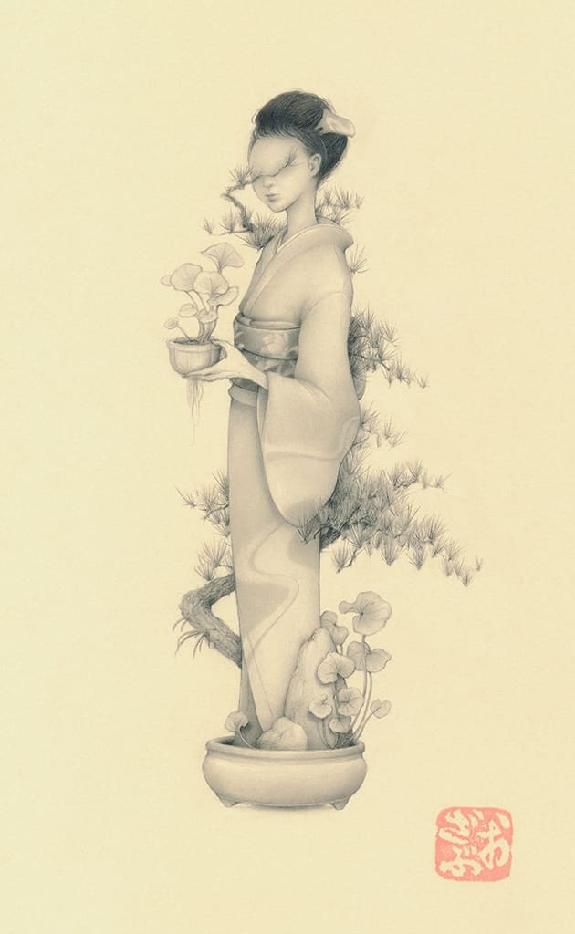 Ozabu, Bonsai Girl 文人 (Bunjin), 2019