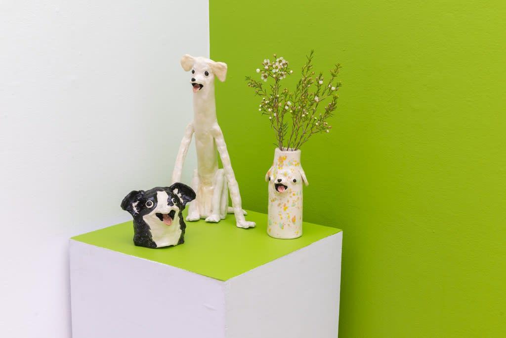 """Katie Kimmel """"Dog Park"""" installation view"""