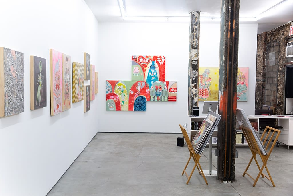 "Kelly Tunstall and Ferris Plock ""Amongst Friends"" installation view"