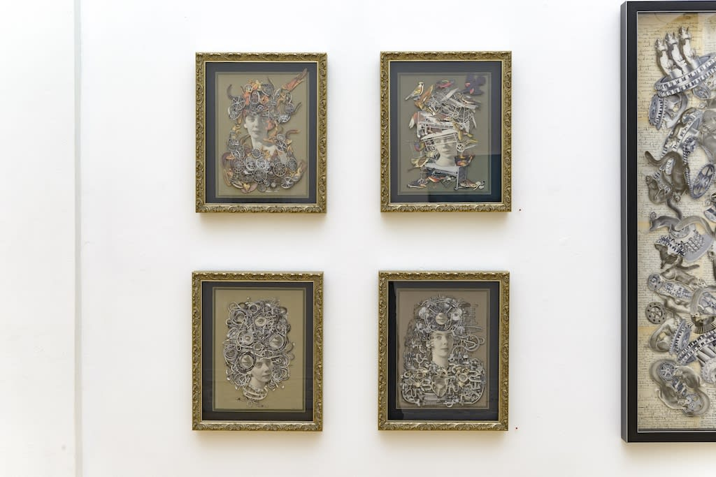 """Lizzie Gill and Hope Kroll """"Fragmented Memories"""" installation view"""
