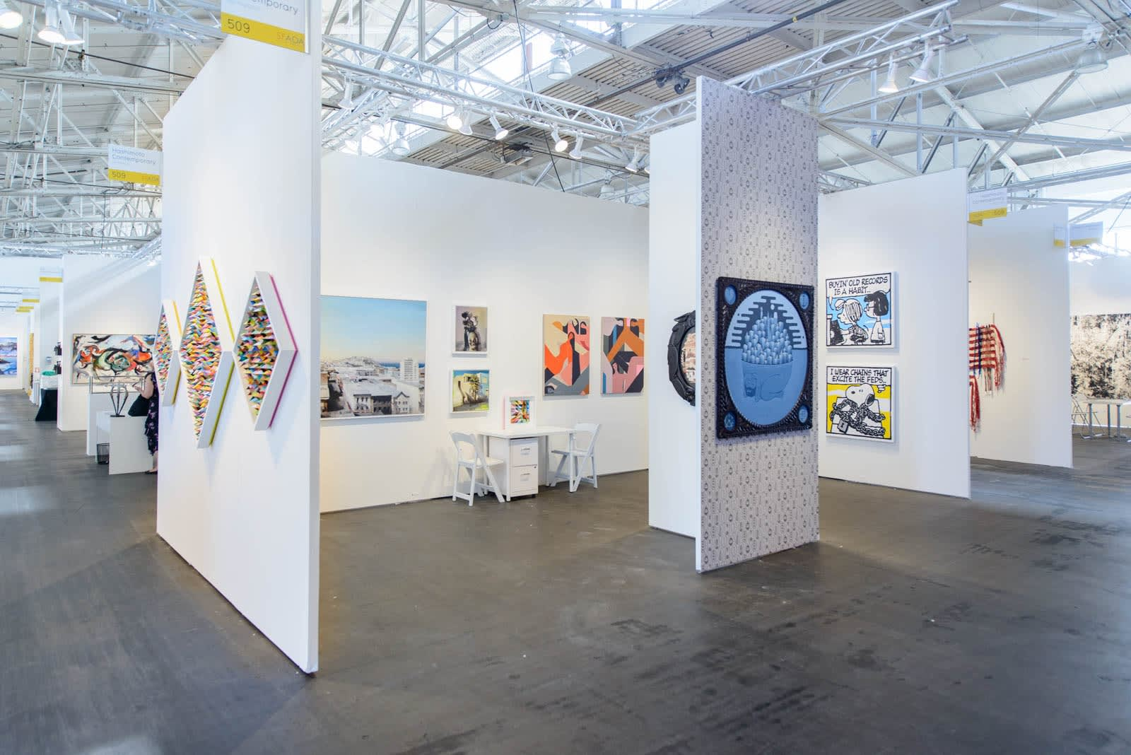 Art fair booth installation view
