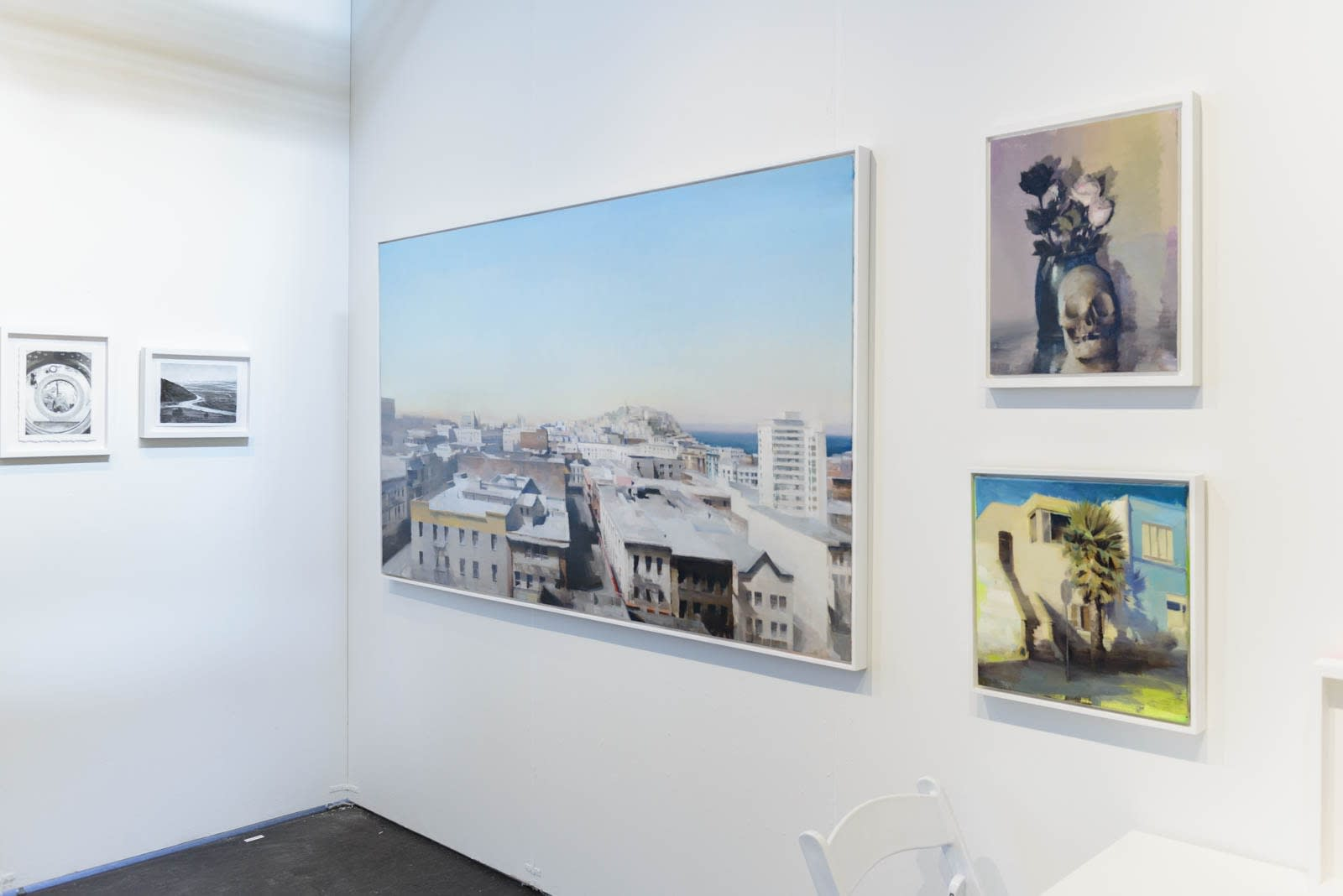 Kim Cogan installation view at art fair