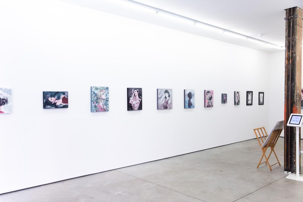 "Installation view of Sarah Joncas ""Pathetic Fallacy"""