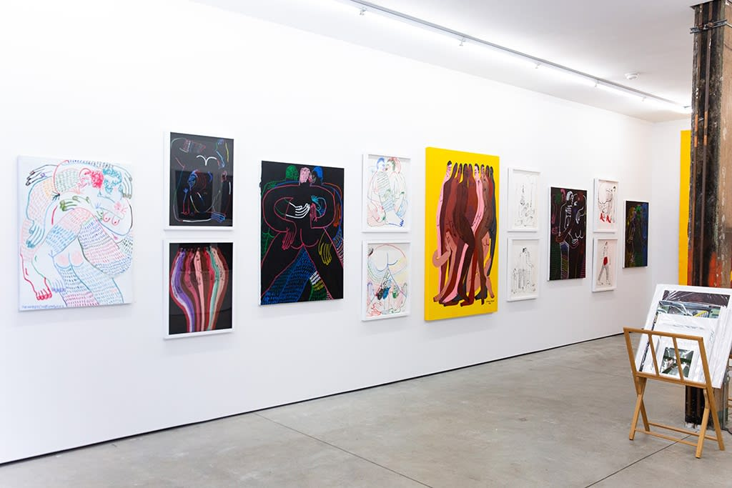 "Installation view of Jeffrey Cheung solo show ""Tangle"" in NYC"