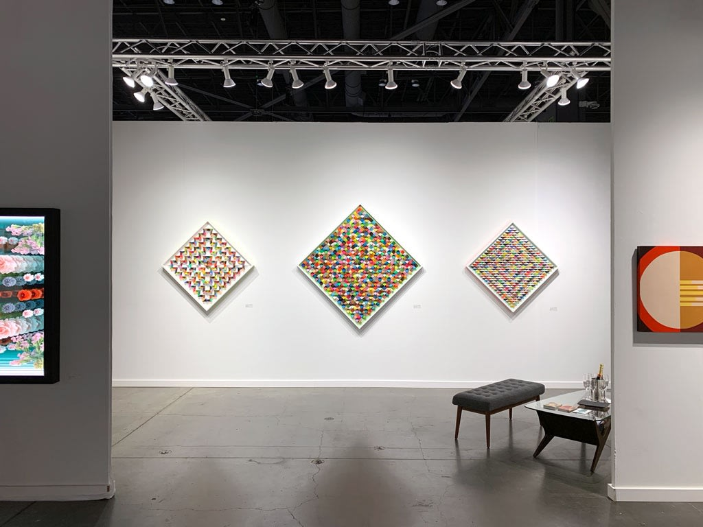 Installation view of booth at Seattle Art Fair