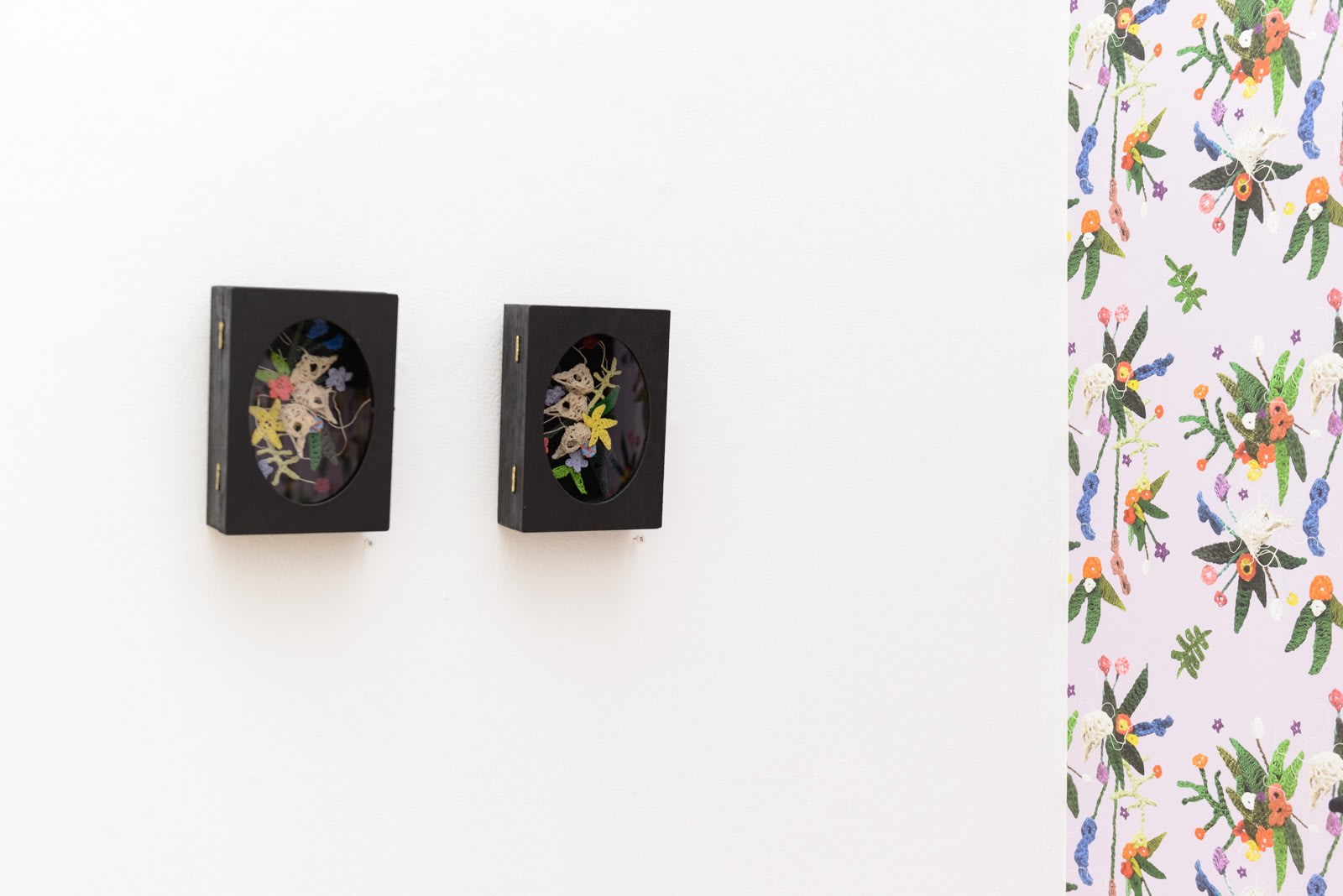 "Installation shot of Caitlin McCormack's ""GRANNY"" solo show"